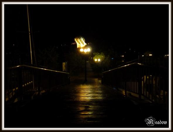 portoroz-mostek-v-noci